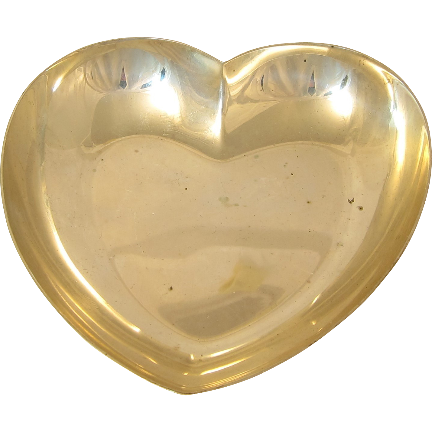 Vintage 1980s sterling silver heart shaped candy dish by for Heart shaped jewelry dish