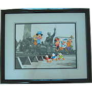 "Original Walt Disney Animation Art Cel ""Walt's Train"""