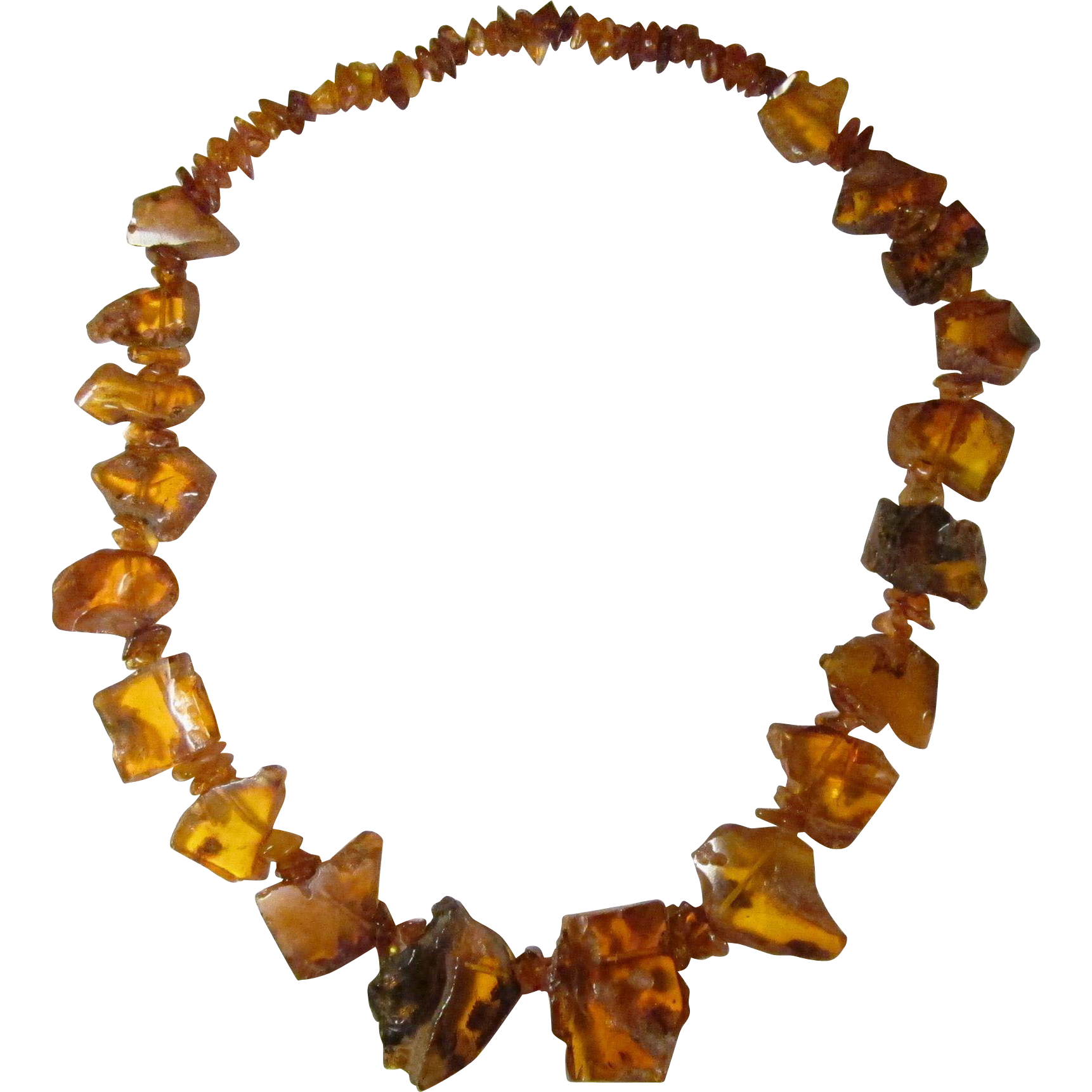 Huge 100% Natural Baltic Honey Amber Necklace with Insect / Bug Inclusion