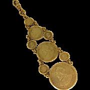 Vintage Pocket Watch Fob 1904 Panama 900 Silver Coins 2 1/2, 5, 10, 25 Centesimos