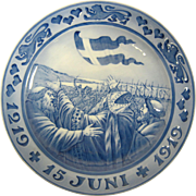 Royal Copenhagen Memorial Plate 1219 + 15 Juni + 1919