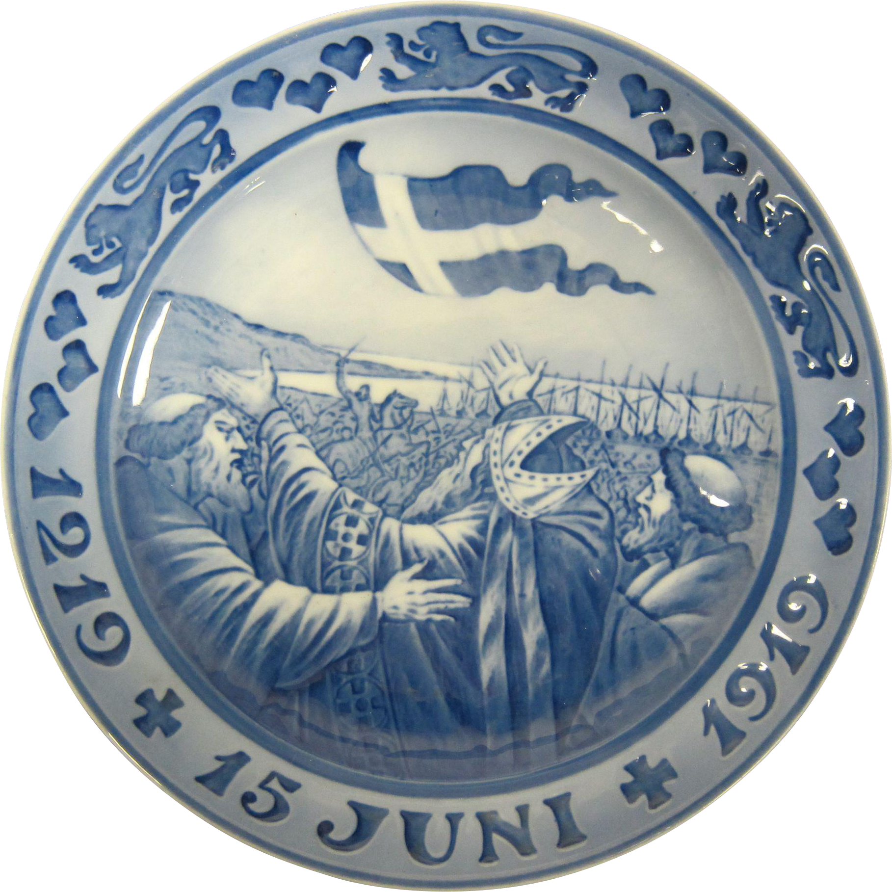 Royal Copenhagen Memorial Plate 1219 + 15 Juni + 1919