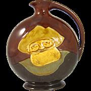 Antique Royal Doulton Dewar's Scotch Whisky Kingsware Flask Decanter Bottle Falstaff