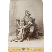 Antique Cabinet Card Photograph of Jean de Reszke as Romeo by J. Mieczkowski Warsaw Poland 1895
