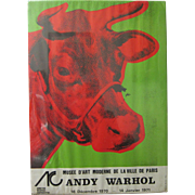 Authentic Andy Warhol Musee D'Art Moderne Paris Exhibition Poster 1970