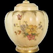 Antique Royal Worcester Lobed Jar Shape 1312 England 1889