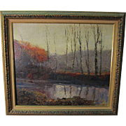 Rare Albert Barbelle Staten Island Oil Listed NY Artist and Disney Illustrator