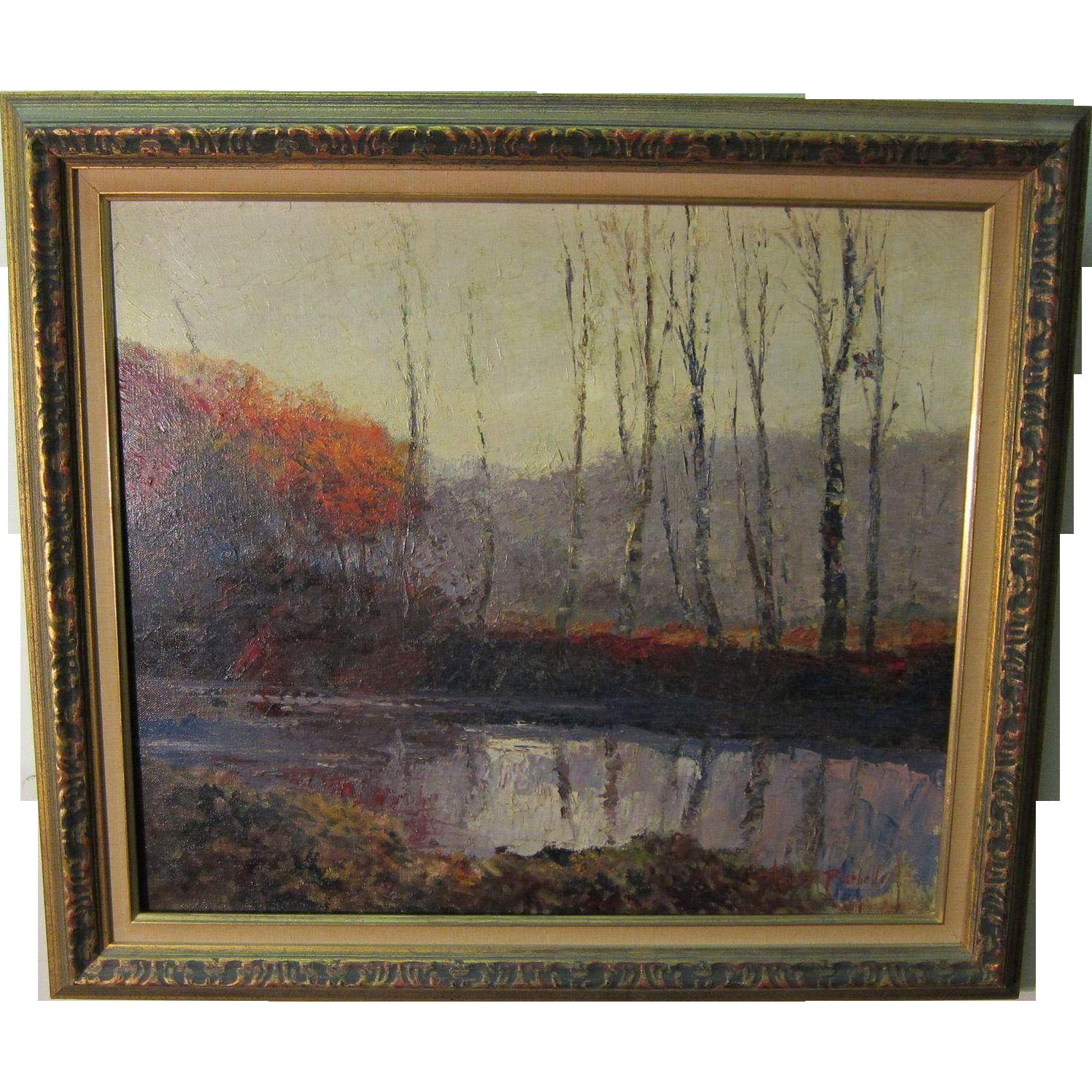 Rare Albert Barbelle Staten Island Oil Listed NY Artist and Disney Illustrator
