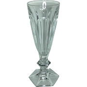 "French Baccarat Harcourt Cut Crystal Champagne Flute Glass France 7"" Tall"