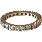 14K Yellow Gold Diamonds Wedding Ring/Eternity Band