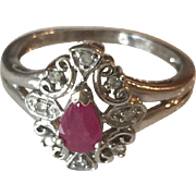 Ruby 10K White Gold Ring