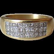 Gorgeous 18K Yellow Gold Diamond Ring/Band