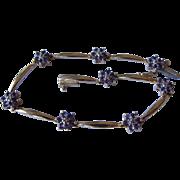 14K Yellow Gold Amethyst Diamond Bracelet