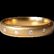 Vintage 14K Yellow Gold Diamond Wedding Band