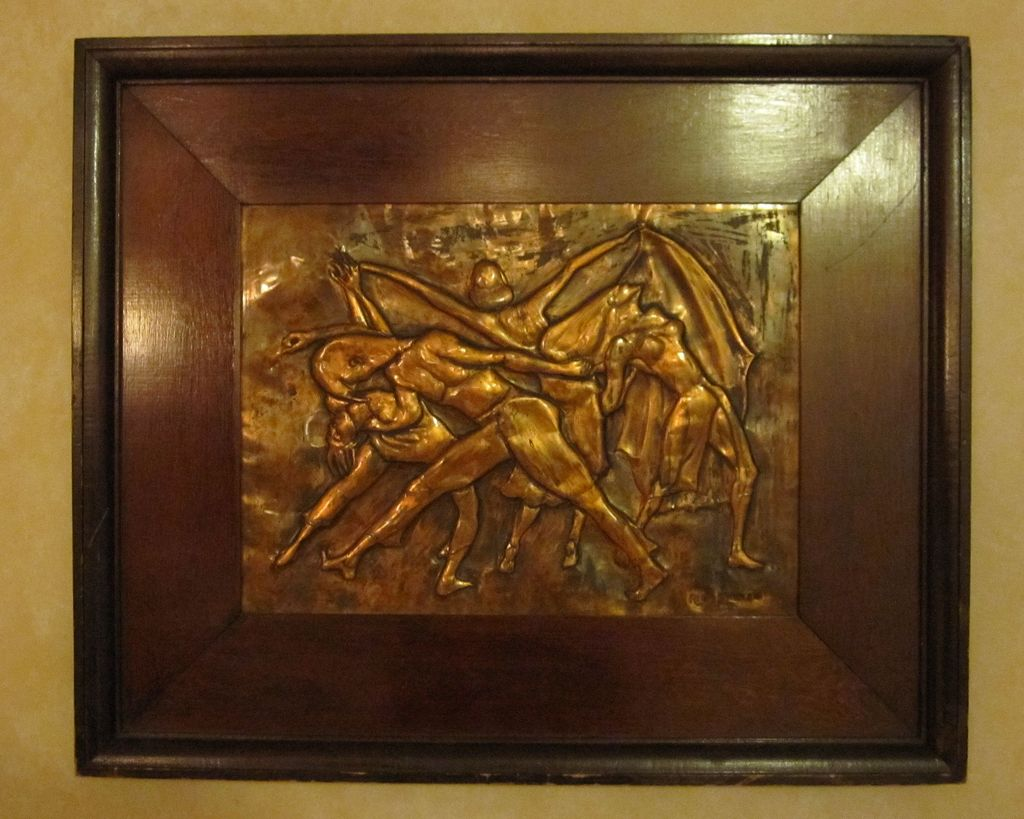 Dancers - Copper Relief Sculpture - New York Artist Rhea Zinman