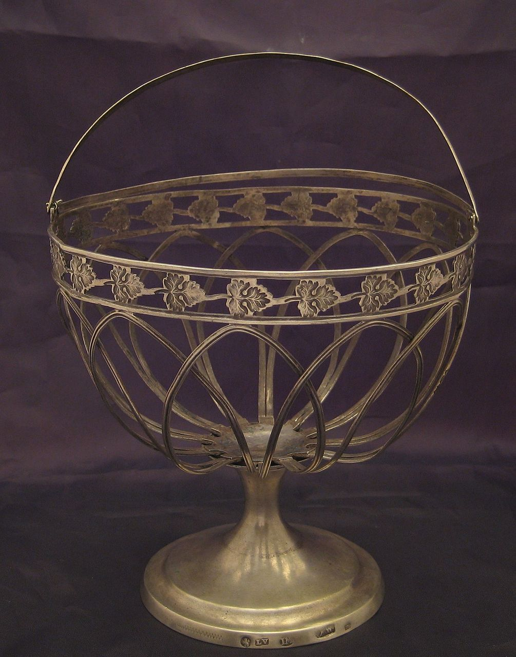 Antique Silver Basket, Berlin, Germany Late XVIII c., Early XIX c.