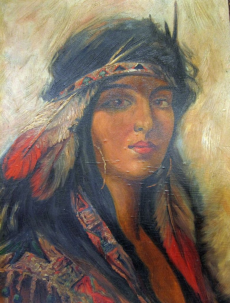 Oil Painting of American Indian Woman 1911 Pohlman SOLD ...