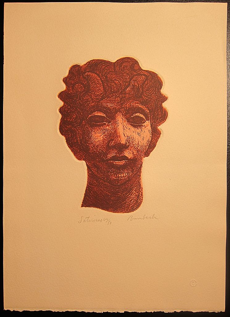 David Bumbeck Etching / Aquatint Satyr  64/80