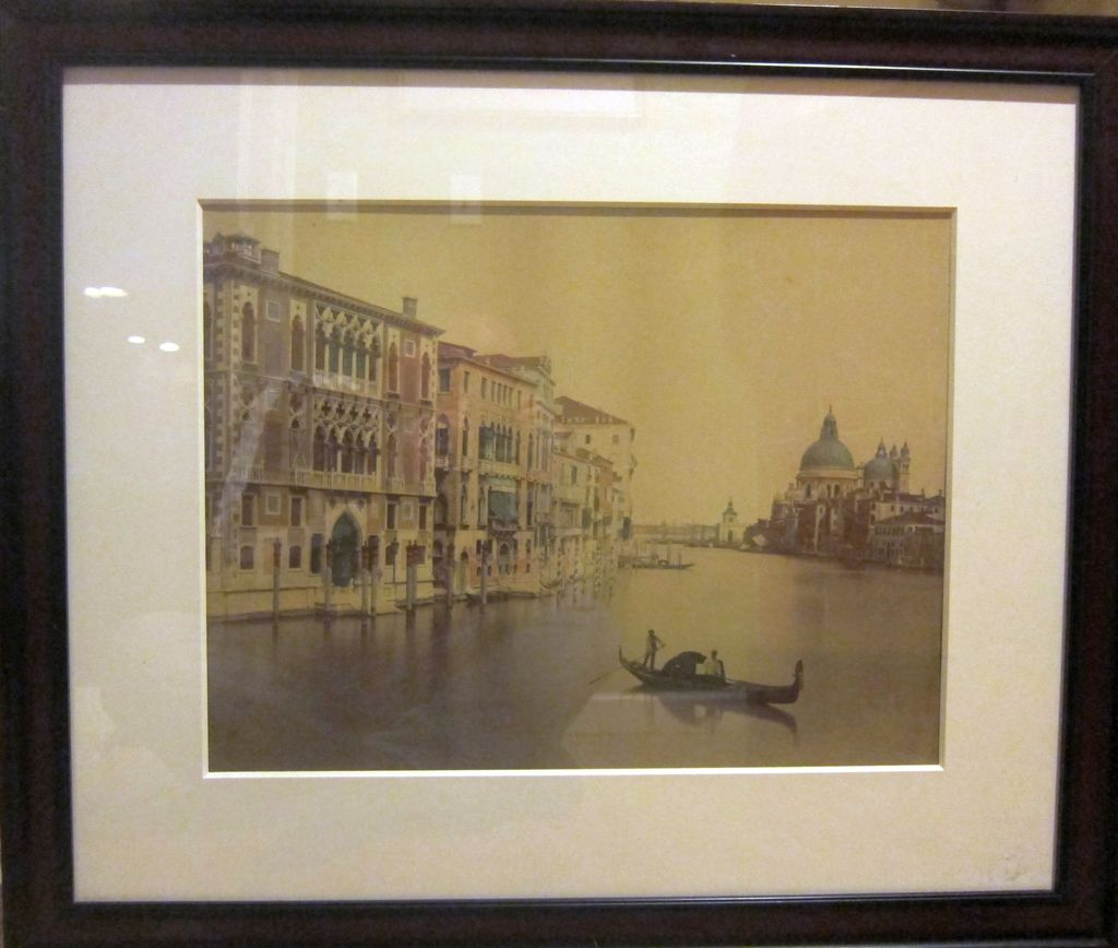 Huge Albumen Print of Venice 1890s J. Kuhn Paris Hand Colored