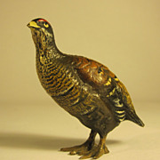 Austrian Cold Painted Bronze Figure of a Bird