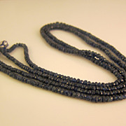 Vintage Natural Sapphire Necklace Over 120ct