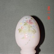 Fenton Handpainted Watercolors Egg by Robin Spindler 1990