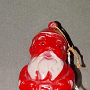 Hard Plastic Santa Christmas Ornament