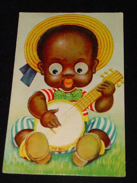 Vintage Mechanical Black Americana / Memorabilia Postcard - Excellent