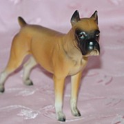Ceramic Napco Boxer Dog Figurine