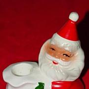 Vintage Santa Ceramic Candleholder - Made in Japan