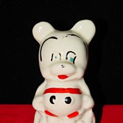 Vintage American Bisque Mickey Mouse Salt Shaker