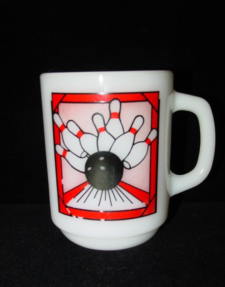 Anchor Hocking Milk Glass Bowling Mug