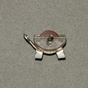 Vintage Sterling Silver Mechanical Charm Grindstone