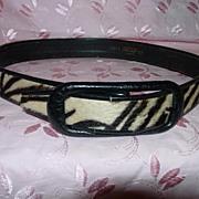 Vintage Genuine Zebra Belt - Lord and Taylor