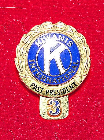 14K Gold Kiwanis International Past President Lapel Pin