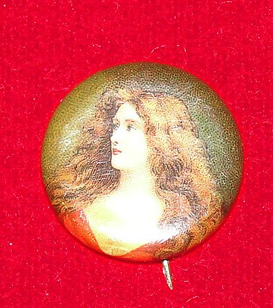 Perfection Cigarettes Lady Pin - Late 1800's
