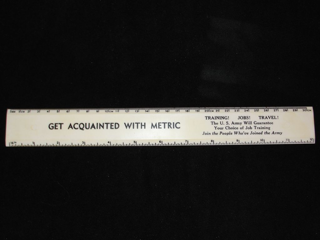 1970's Army Advertising Ruler