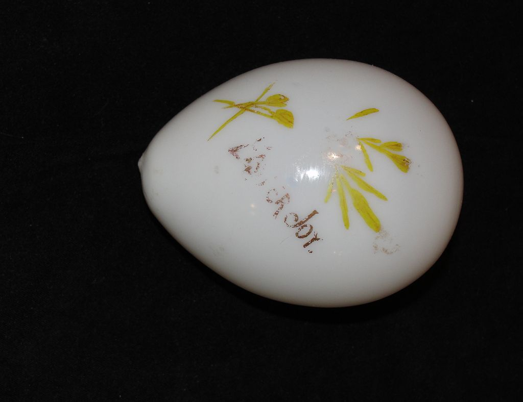 Small Glass Victorian Easter Egg Hand Painted