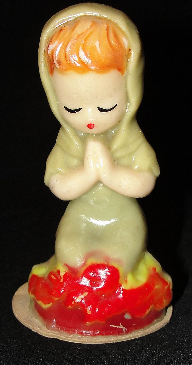 Vintage Gurley Candle Company Joan of Arc