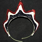 Vintage Dance School Costume Patriotic Headpiece for a Child
