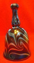 Fenton Dave Fetty Bell Pulled Feather Red Favrene - Super Rare