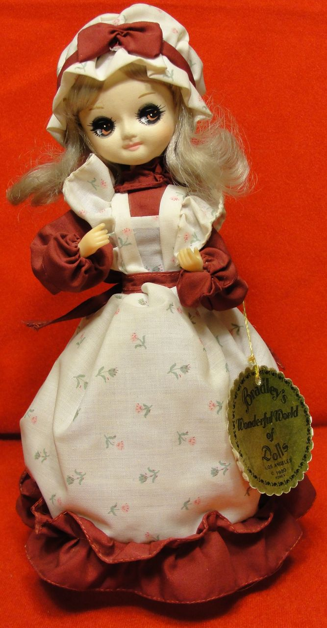 Vintage 1980 Bradley Wonderful World of Dolls Agatha