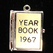 Vintage Wells Sterling 1967 Yearbook Charm Opens