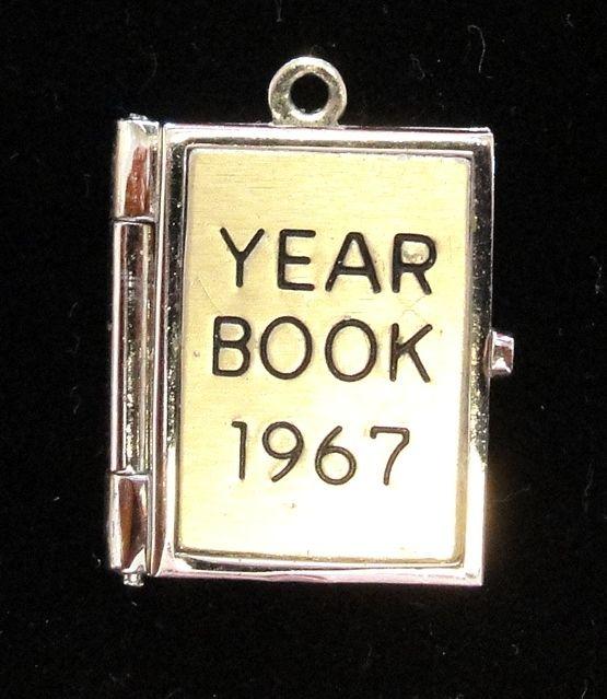 Vintage Wells Sterling 1967 Yearbook Charm Opens