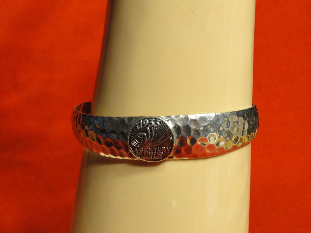 1933 Chicago World's Fair Sterling Silver Cuff Bracelet