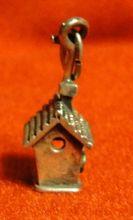 Vintage Beau Sterling Silver 3D Birdhouse Charm - Love Nest