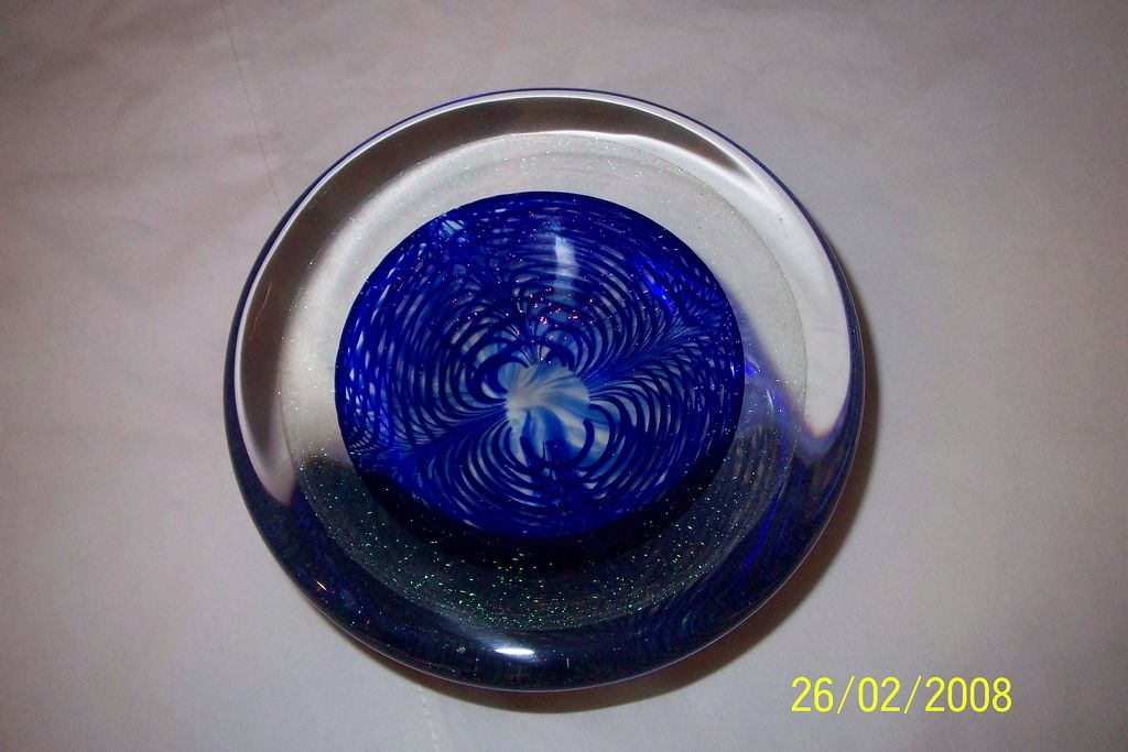 Correia Art Glass Bowl/Weight - b25