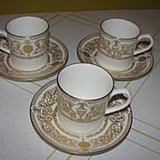 "Royal Worcester ""Hyde Park"" Demitasse Cup and Saucer"