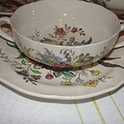 "Spode ""Gainsborough"" (Marlborough) Cream Soup and Saucer"