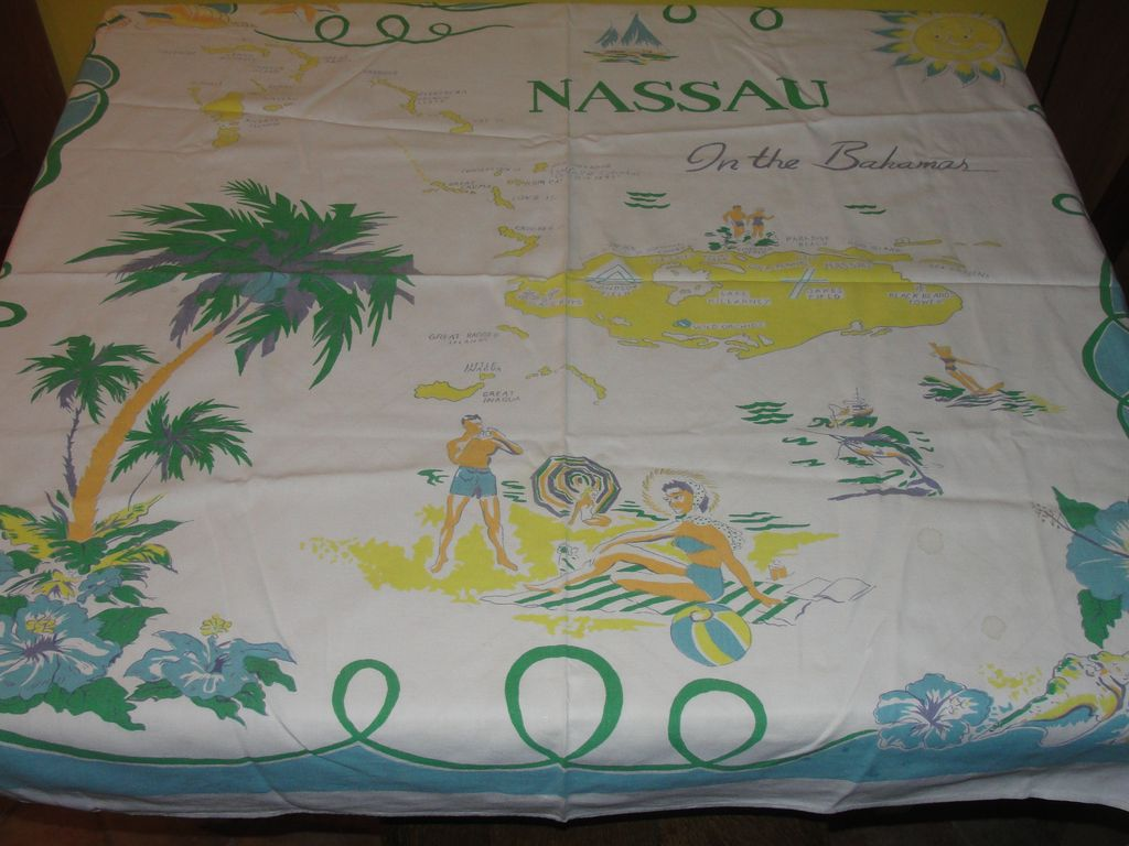 Nassau Souvenir Tablecloth - b22